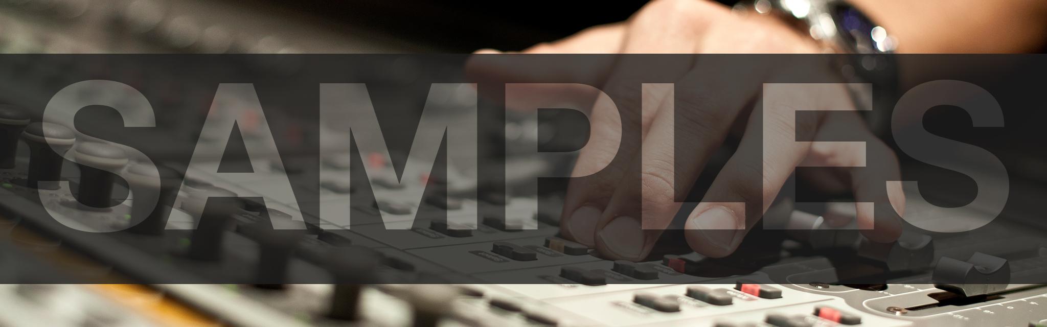 Samples - Gianni Quarta - Técnico de sonido directo y post producción audiovisual para film, publicidad y televisión en Barcelona - Film, TV and commercials sound mixer and sound post production based in Barcelona